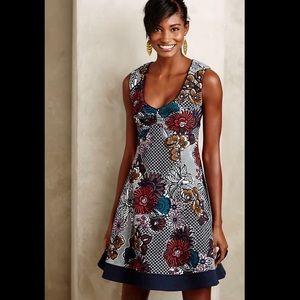 Anthropologie Maeve Fairchild Flared Dress Sz L